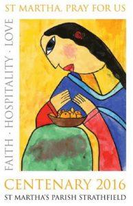 St. Martha's Centenary Tea Towel